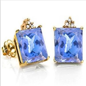 Jewelry - 3.12 CARAT LAB TANZANITE 10K SOLID GOLD OCTAGON